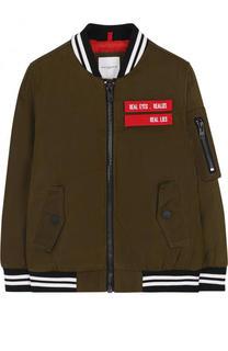 Куртка-бомбер с контрастными нашивками Givenchy