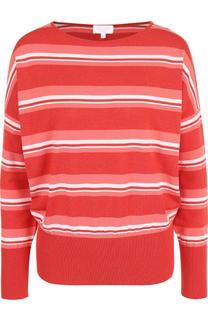 Приталенный хлопковый пуловер в полоску Escada Sport