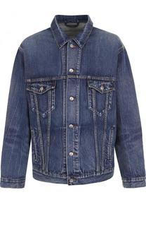 Джинсовая куртка на пуговицах свободного кроя Balenciaga