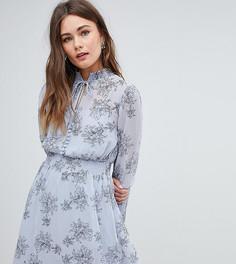 Платье с длинными рукавами и цветочным принтом Boohoo - Мульти