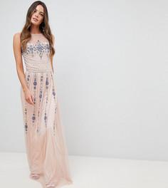 Декорированное платье макси Frock And Frill Tall Premium - Розовый