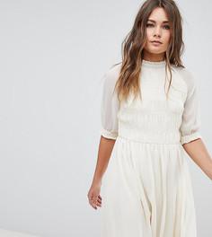 Свободное платье Boohoo Prairie - Белый