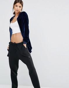 Удлиненная вельветовая куртка-пилот Missguided - Темно-синий