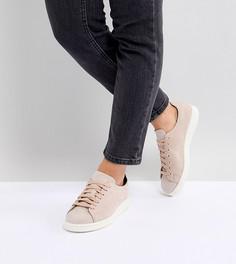 Женские розовые кроссовки из нубука adidas Originals Stan Smith Nuud - Розовый