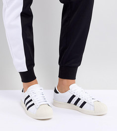 Черно-белые кроссовки adidas Originals Superstar Og - Белый