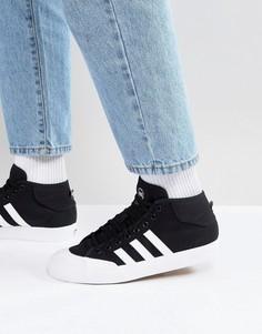 Черные кроссовки средней высоты adidas Skateboarding Matchcourt F37703 - Черный