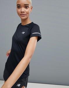 Черная футболка с короткими рукавами New Balance Running Ice - Черный