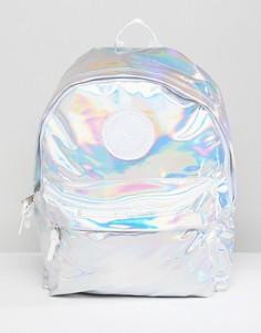 Серебристый рюкзак с голографическим принтом Hype - Серебряный