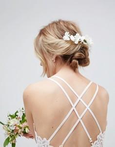 Заколка для волос с цветами ASOS DESIGN - Белый