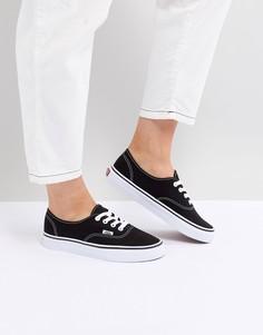 Женские черно-белые кроссовки Vans Authentic - Черный