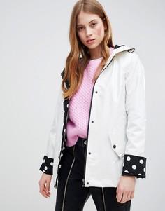 Дождевик с подкладкой в горошек Glamorous - Белый