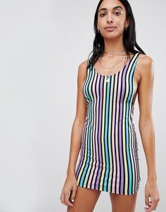 Облегающее платье мини в радужную полоску Motel - Мульти
