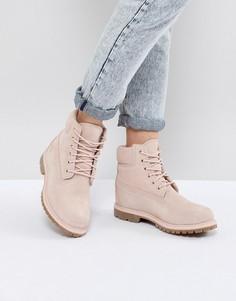 Розовые замшевые премиум-ботинки высотой 6 дюймов Timberland - Розовый
