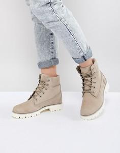 Ботинки на плоской подошве Timberland - Бежевый