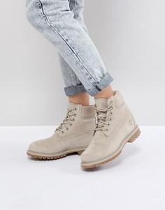 Замшевые ботинки на плоской подошве Timberland - Серый