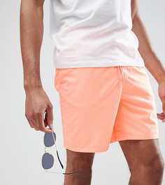 Оранжевые шорты для плавания средней длины ASOS DESIGN TALL - Оранжевый