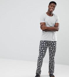Пижамный комплект с камуфляжными штанами Esprit - Серый