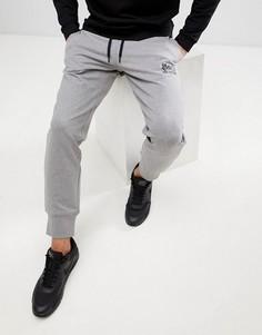 Серые джоггеры скинни с логотипом Love Moschino - Серый