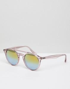 Розовые круглые солнцезащитные очки Ray-Ban 0RB4279 - Розовый