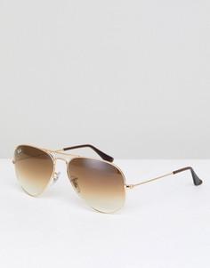 Солнцезащитные очки-авиаторы Ray-Ban 0RB3025 - Золотой