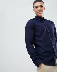 Темно-синяя трикотажная рубашка Ted Baker - Темно-синий