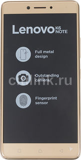 Смартфон LENOVO K6 Note K53A48, золотистый