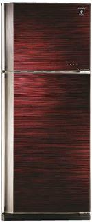 Холодильник SHARP SJ-GV58ARD, двухкамерный, красное стекло