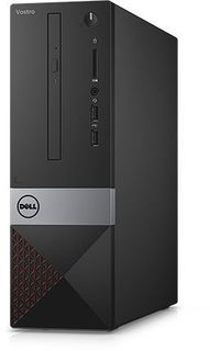 Компьютер DELL Vostro 3268, Intel Core i5 7400, DDR4 8Гб, 256Гб(SSD), Intel HD Graphics 630, DVD-RW, CR, Windows 10 Professional, черный [3268-8237]