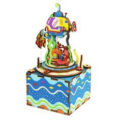 Конструктор Robotime Музыкальная шкатулка 3D Under The Sea 81 дет. AM406