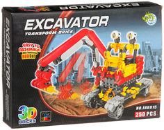 Конструктор Dragontoyz Страйп Экскаватор 250 дет. JH6915
