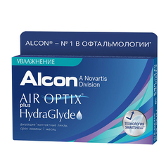 Контактные линзы Alcon Air Optix Plus HydraGlyde (6 линз / 8.6 / -2)