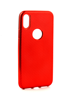 Аксессуар Чехол Neypo Neon Carbon APPLE iPhone X Red NSTC3121