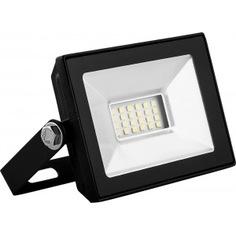 Светодиодный прожектор saffit sfl90-10 2835smd, 10w 6400k ac220v/50hz ip65, черный в компактном корпусе 55067