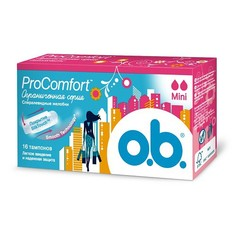 ТАМПОНЫ `O.B` Pro Comfort мини 16шт. К48 O.B.