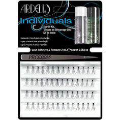 Стартовый набор для наращивания ресниц `ARDELL` STARTER KIT (пучки Combo, пинцет, клей, удалитель клея)