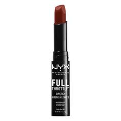 Помада для губ `NYX PROFESSIONAL MAKEUP` FULL THROTTLE LIPSTICK тон 01 Con artist