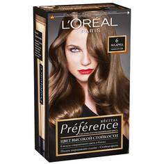 Краска для волос `LOREAL` `PREFERENCE` тон 6 Мадрид (темно-русый) LOreal