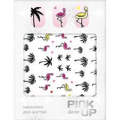 Наклейки для ногтей `PINK UP` Flamingo             а/п