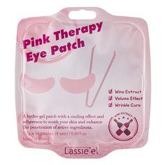 Патчи для глаз гидрогелевые `LASSIE`EL` PINK THERAPY с экстрактом вина (против морщин) 16 шт