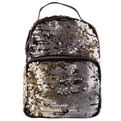 Рюкзак `LADY PINK` SHINE ON с пайетками черно-золотой