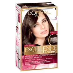 Крем-краска для волос `LOREAL` `EXCELLENCE` тон 4 (Каштановый) LOreal