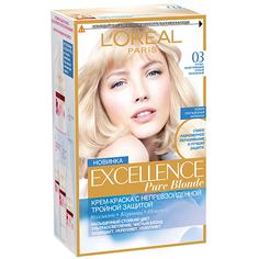 Крем-краска для волос `LOREAL` `EXCELLENCE` тон 03 (Супер-осветляющий русый пепельный) LOreal