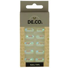 Набор накладных ногтей `DE.CO.` HOLOGRAM peral coast (24 шт + клеевые стикеры 24 шт) Deco