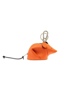 Оранжевый брелок в виде мыши Loewe