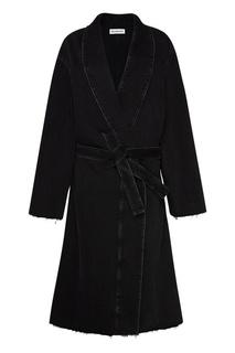 Пальто из черного денима Balenciaga