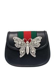 Сумка с бабочкой из кристаллов Gucci Totem