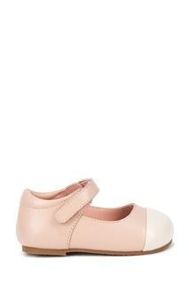 Розовые кожаные туфли на липучке Age of Innocence