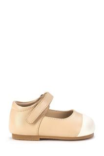 Кожаные туфли с белой вставкой Age of Innocence