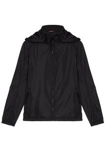 Черная куртка с капюшоном Zasport