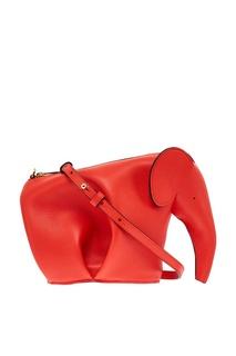 Красная сумка в виде слона Loewe